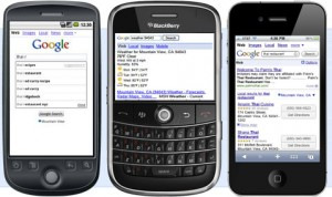 Local search on mobile phones